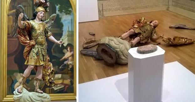 Un turista destruye una estatua de 400 años al intentar hacerse un selfie en un museo de Lisboa