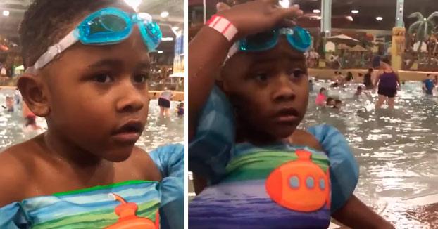 El niño que perdió sus gafas de natación de forma misteriosa