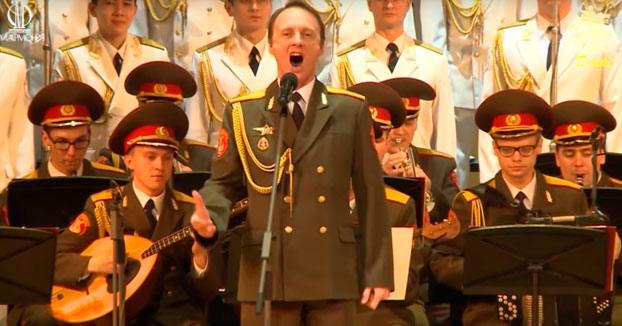 Coros del ejercito ruso interpretando una Jota Aragonesa (Vídeo)