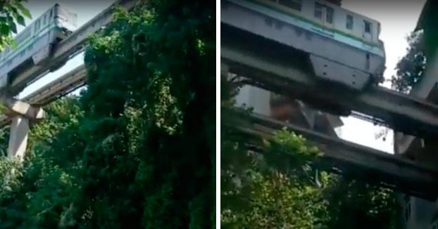 Cuando creías que lo habías visto todo llega: El tren que pasa a través de un edificio