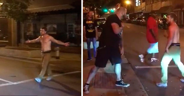 Un hombre ebrio no sabía que estaba provocando a un luchador de MMA y acaba comiendo el asfalto