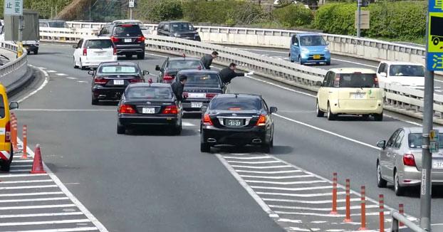 Esto es lo que ocurre cuando el primer ministro de Japón se desplaza en coche por el país