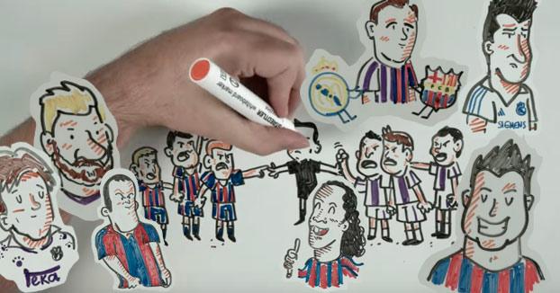 La historia de los Barcelona-Real Madrid en dibujos
