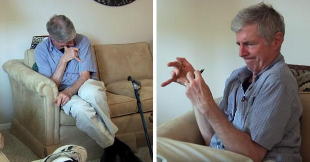 Un hombre con Parkinson usa marihuana por primera vez y el resultado es increíble (Vídeo)
