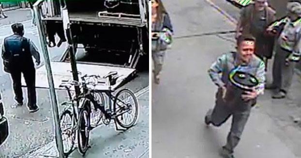 La policía difunde un vídeo del momento en el que un hombre roba en Nueva York un cubo con 1.6 millones de dólares en oro (Vídeo)