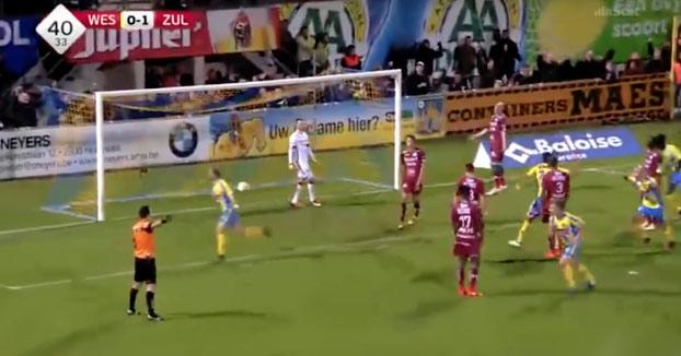 Cuando marcas un gol y crees que puedes volar...