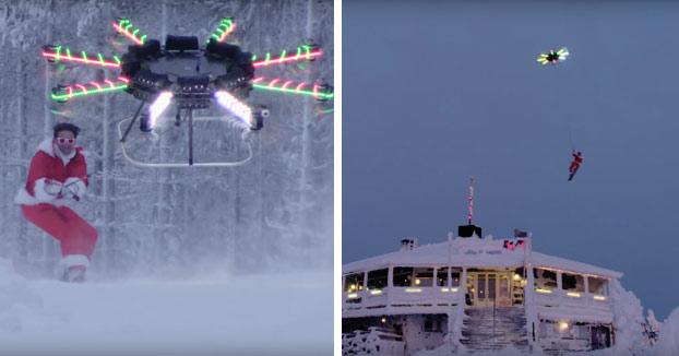 Este año Papa Noel no viene en trineo, viene en Drone