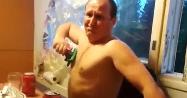 Rusos probando una taser después de cenar