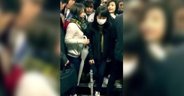 Así van los trenes de Tokio en hora punta