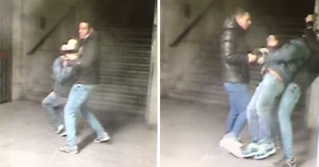 Robo en vivo por el método del 'mataleón' en el Metro de Madrid (Vídeo)