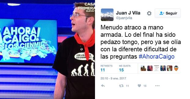 Acusan al programa '¡Ahora Caigo!' de Antena 3 de tongo para no dar el premio de 100.000 euros (Vídeo completo)