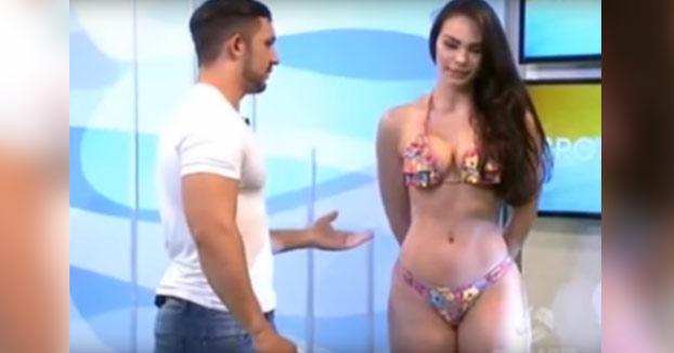 Los tocamientos de un hombre en directo cabrean a la modelo