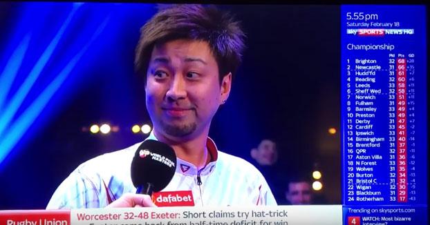Genial la entrevista a este japonés después de una partida de billar