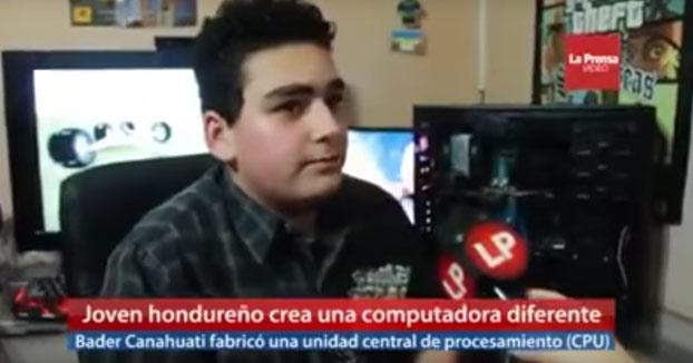 Presentan a este chico como un prodigio de la informática en Honduras por cambiar el disco duro