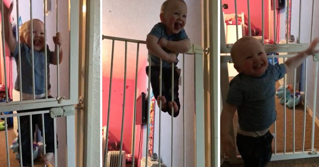 Solo tiene 21 meses y en el mundo entero ya lo conocen como 'El pequeño Houdini'