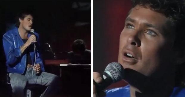 David Hasselhoff cantando 'Historia de un amor' en el programa de Jesús Hermida (año 1987)