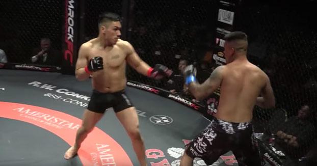 Momento en el que dos luchadores de MMA se noquean al mismo tiempo