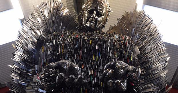Knife Angel, una escultura creada con 100.000 cuchillos confiscados por la policía