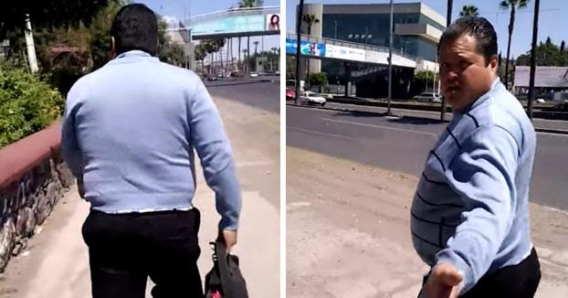 #LordNalgadas: Persigue y graba a un hombre que le tocó el culo mientras iba por la calle