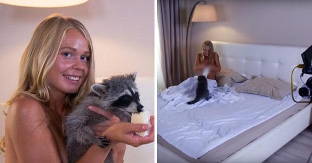 Un zoo denuncia a una agencia de publicidad por el uso de su mapache en un anuncio erótico