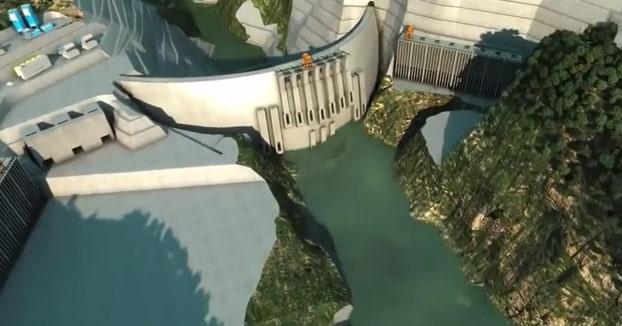 La construcción de la presa de arco más grande del mundo es increíble
