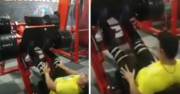 Lo que NUNCA debes hacer en un Press de piernas