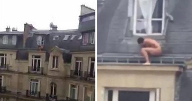 El marido de su amante volvió a casa y se vio obligado a esconderse tras la ventana en la azotea
