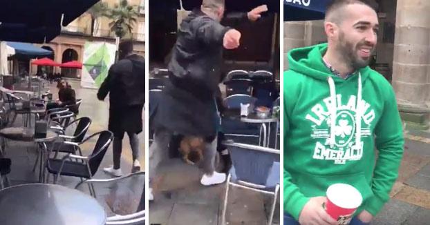 Un ultra sevillano agrede a un hombre que estaba en una terraza de Bilbao