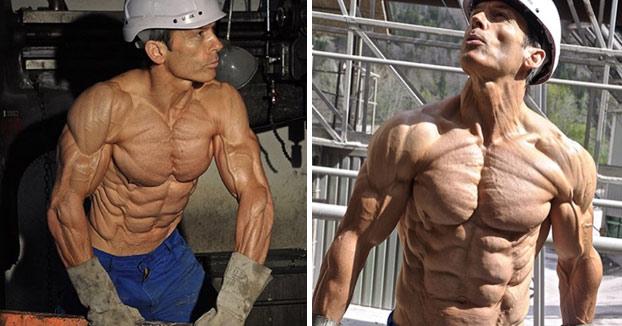 Tiene 47 años y es un modelo fitness que ha llegado al 4% de grasa corporal