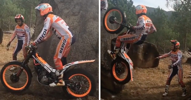 A Toni Bou no se le resiste nada por su camino con la moto de trial