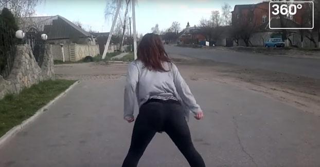 El twerking de una chica provoca este terrible accidente