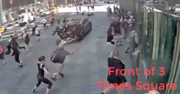 El estremecedor vídeo de la carrera sin control del asesino de Times Square