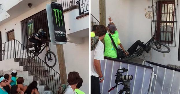 Escalofriante: Corredor en coma tras chocar contra el saliente de un balcón (Vídeo)