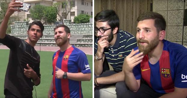 El doble iraní de Leo Messi es para flipar