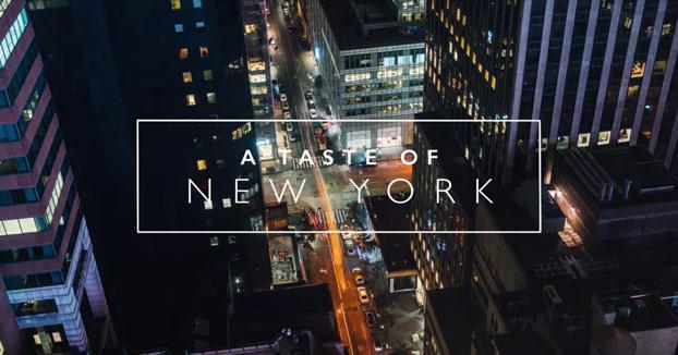 El sabor de Nueva York: 10 días para grabar este impresionante vídeo de 3 minutos