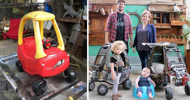 Padre del año: Transforma los coches de sus hijos en coches inspirados en Mad Max