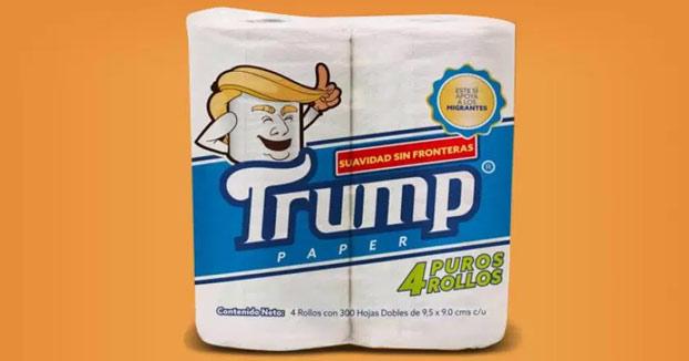 Crean en México un papel higiénico marca 'Trump', cuyos beneficios se destinarán a los inmigrantes deportados