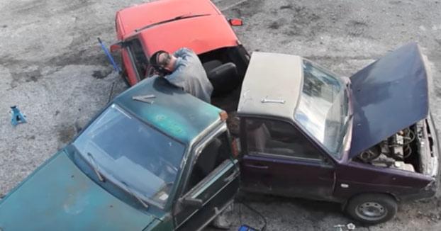 Sólo podían hacerlo ellos: Unos rusos crean un Fidget Spinner con tres coches