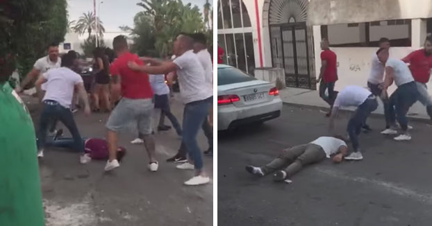 Brutal pelea a la salida de una discoteca de Marbella