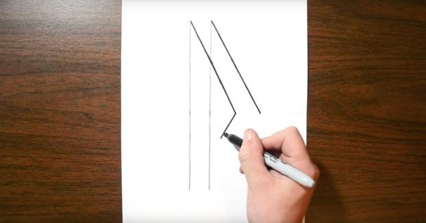 Cómo dibujar una escalera en 3D de una manera super sencilla
