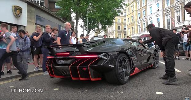 Entrega de un Lamborghini Centenario de 2.5M$ en Londres