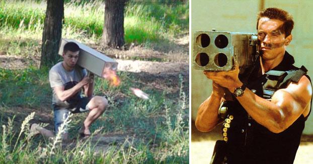 Este youtuber nos enseña cómo hacer un lanzacohetes DIY inspirado en la película Comando de 1985
