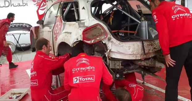 Mecánicos reparan este coche siniestrado en 30 minutos