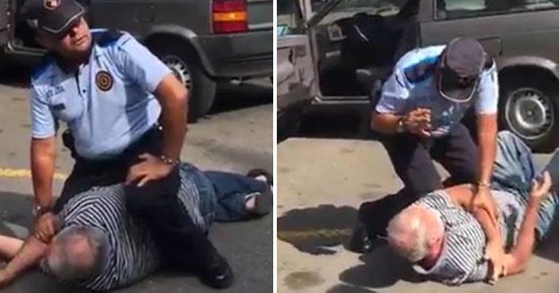 Polémica reducción de un policía local a un anciano en Sant Cugat del Vallès (Vídeo)