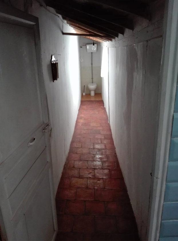 Qué gran escena se podría grabar en el váter de casa de mi abuela. Qué coño, una peli entera. El váter del terror