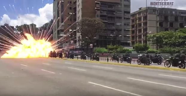 bomba policias moto venezuela