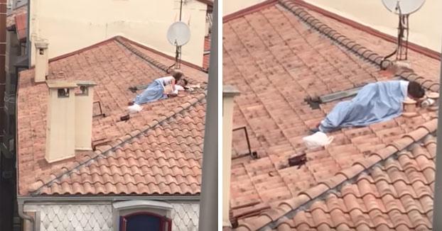 El polvo en el tejado en San Fermín 2017