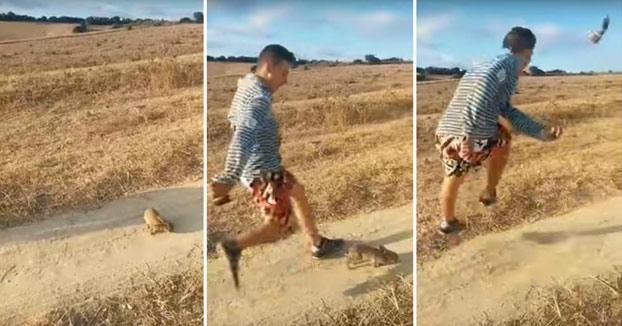 Toda España busca a este chico que pateó un conejo al grito de ''Cristiano Ronaldo''
