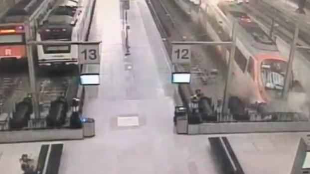video camara seguridad accidente tren barcelona
