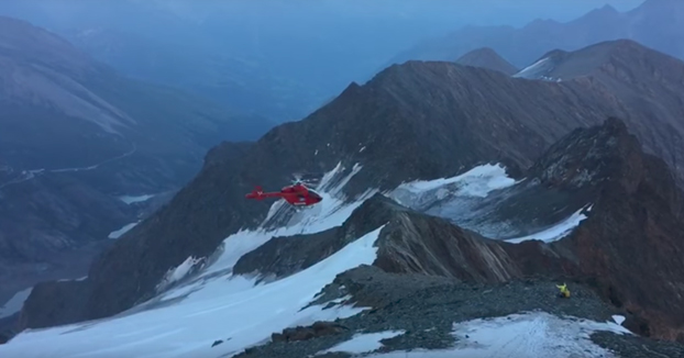 Accidente de un helicóptero de rescate en la montaña más alta de Austria